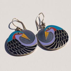 """Laurel Burch Vintage """"Wile Bird"""" Earrings"""